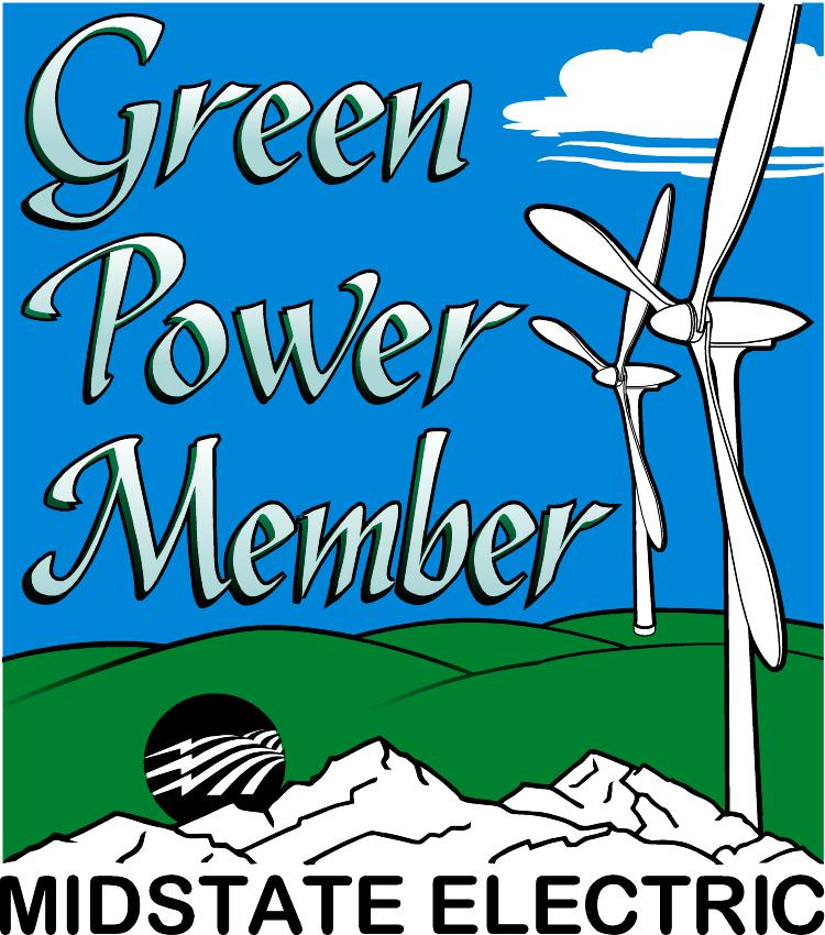 Green% Power Sticker